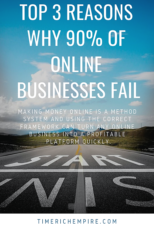 Top 3 Reasons Why 90 Percent Of Online Businesses Fail Time Rich Empire