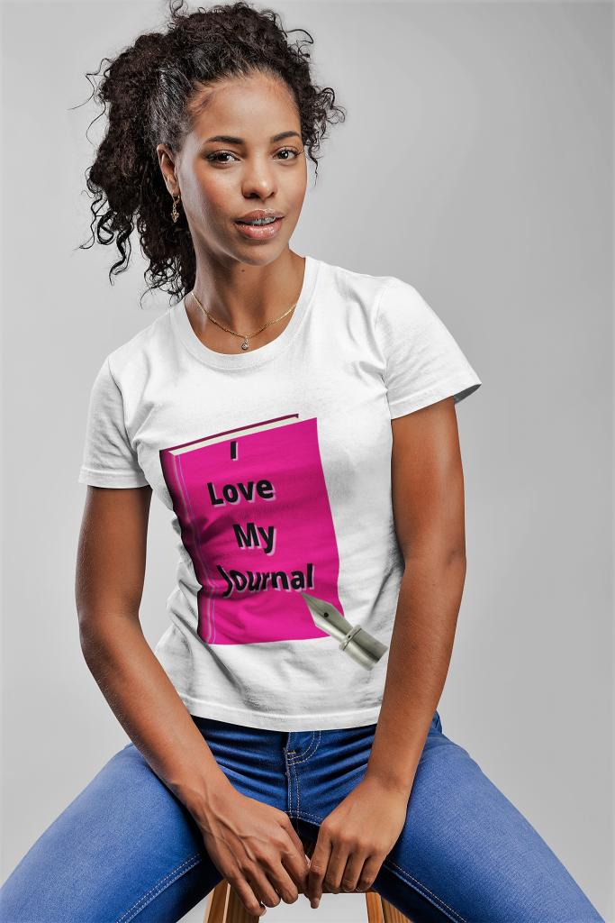 Custom T-Shirt For I Love My Journal, Custom T-Shirt For I Love My Journal